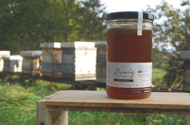 """1,2kg Honigglas des Bio-Honigs """"Osterberg Frühling 2020 - Wald- mit Ahornhonig"""""""